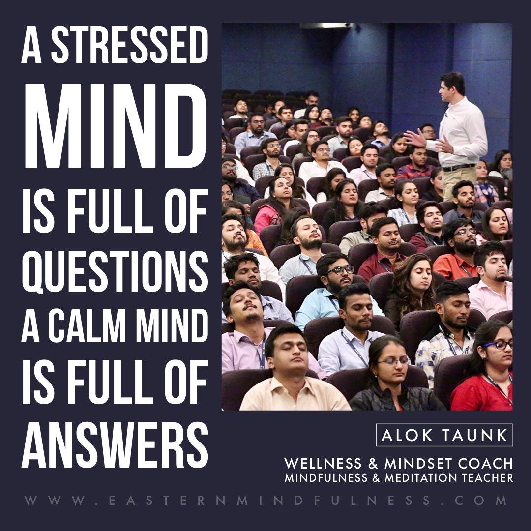 Meditate your way to calmness.  #meditation #meditationpractice #meditatedaily #meditationspace #calm #calmyourmind #calmness #peace #peaceofmind #aloktaunk #dailymotivation #dailyinspiration #mindfulness #mindfulliving #mindfulnesscoach #lifelessons #share #positivity https://t.co/UiayYS6JDx
