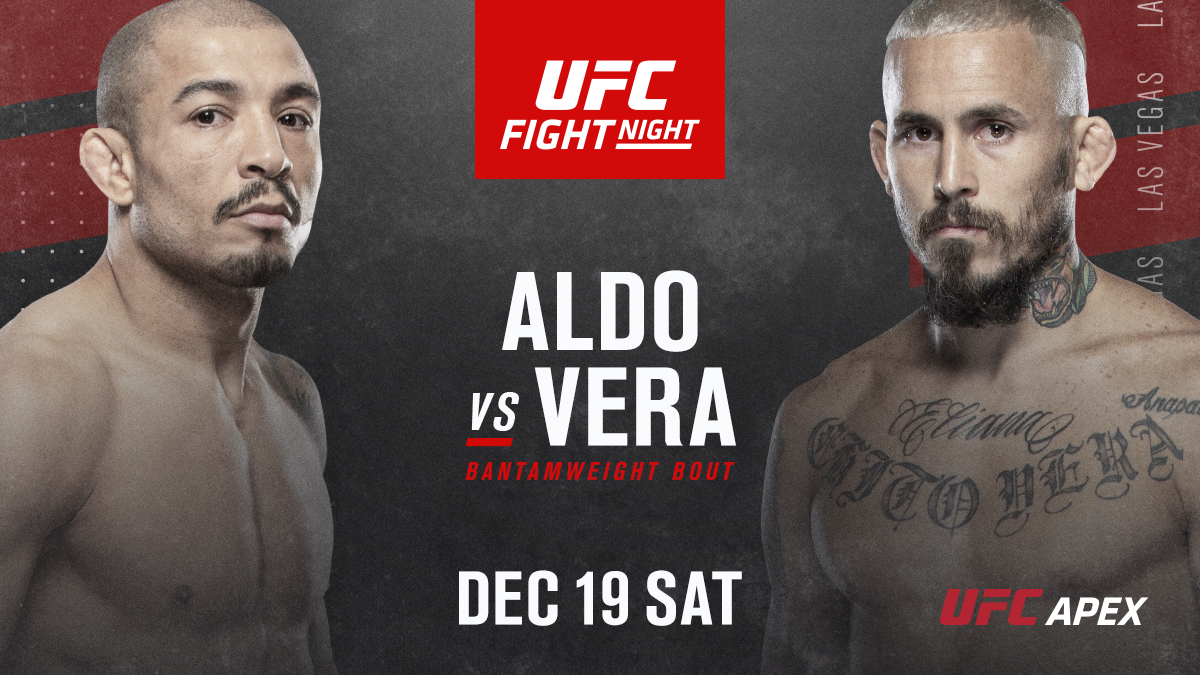 How good does our #UFCVegas17 look right now?!  @JoseAldoJunior vs @ChitoVeraUFC just added to our final card of 2020! https://t.co/l4gkbj4Dvw