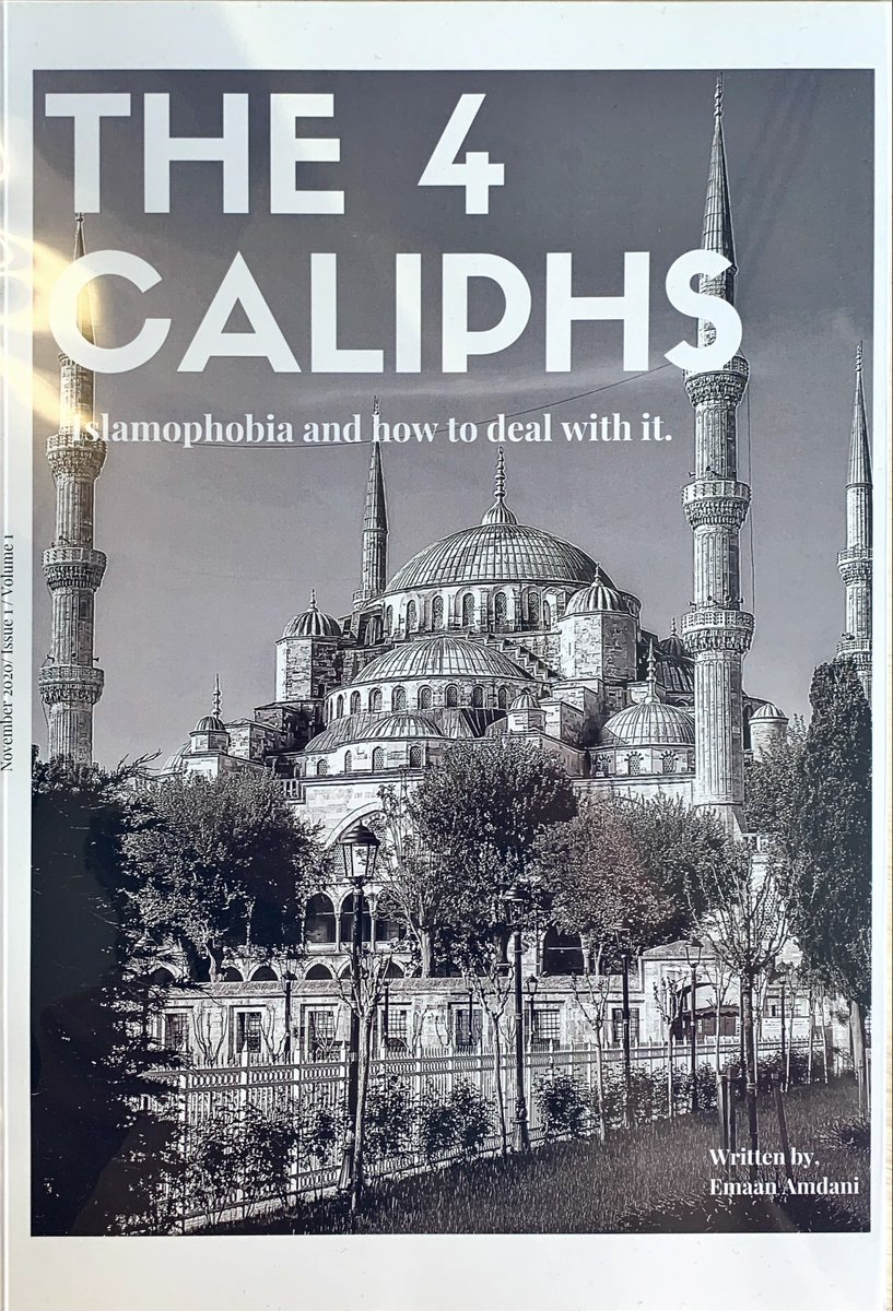 What could be more inspiring and motivating than a prof. magazine created by one of my grade 11 students, creating ways of dealing with Islamophobia through the timeline of the Caliphs. These students go over and beyond our expectations!! @gems_daa @GEMS_ME @KHDA @HighSchoolDAA https://t.co/xHk5AkoZoR