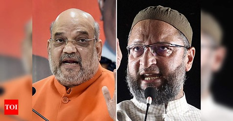 Give in writing that Bangladeshis, Rohingyas have to be evicted and see govt's response: Amit Shah to Owaisi