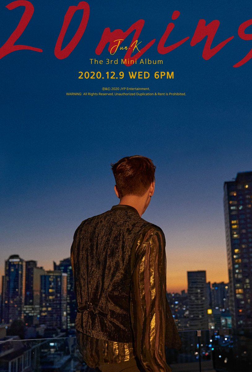 JUN. K (준케이)  3rd MINI ALBUM  <20분>   TEASER IMAGE ②  2020.12.9 WED 6PM   #2PM #투피엠 #JUN_K #준케이 #20분 #20minutes