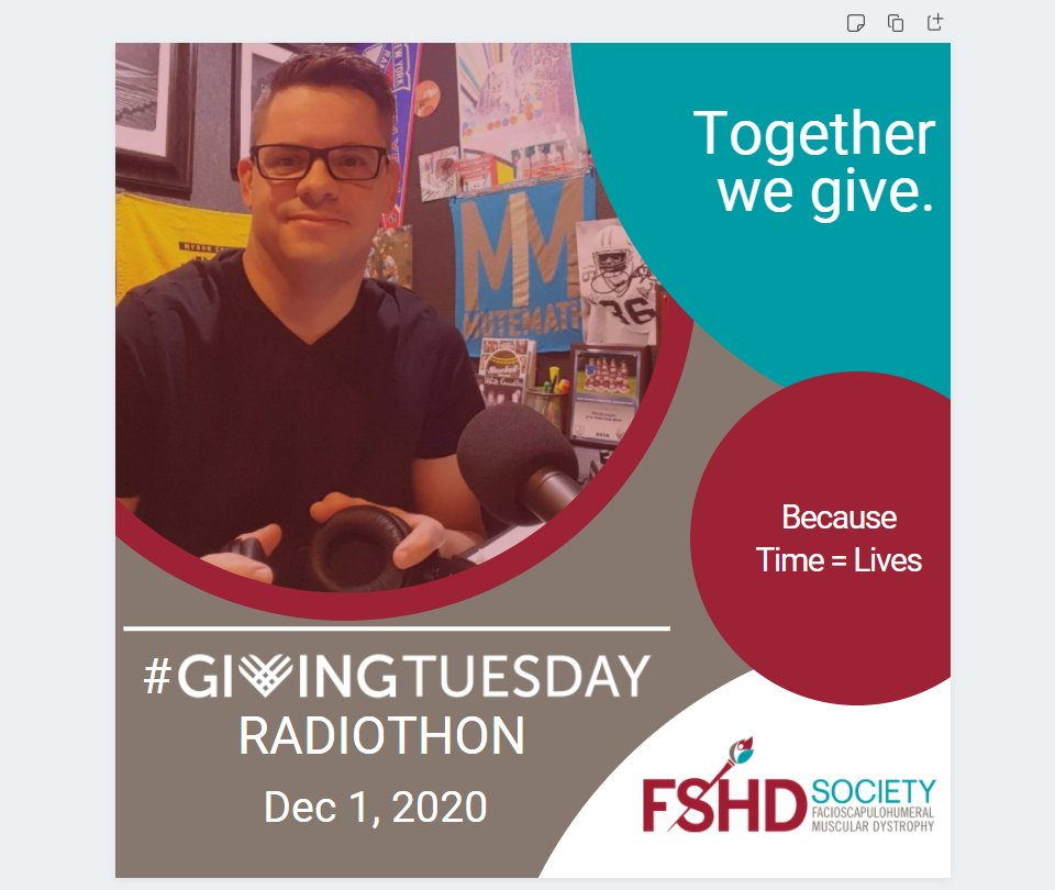 Because TIME = LIVES, we've dedicated #GivingTuesday - Dec 1st -  to a FB Livestream Radiothon!  @fshradiohost Tim H will conduct nonstop interviews from 8a-10p CT with members of our community! Check out the schedule:  and Join us: