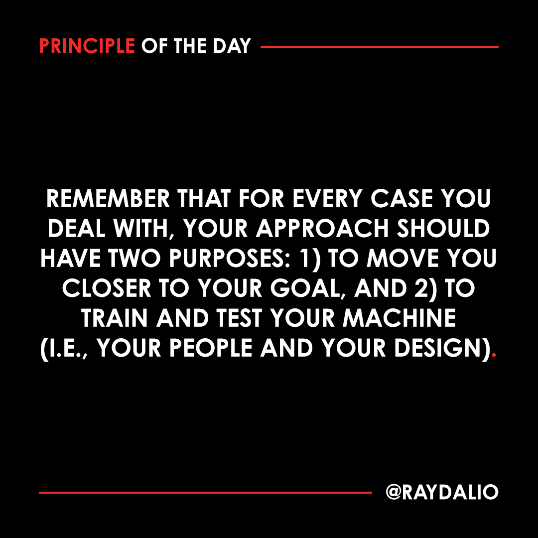 The second purpose is more important than the first because it is how you build a solid organization that works well in all cases. Most people focus more on the first purpose, which is a big mistake. #principleoftheday https://t.co/NNsYqtgmtU