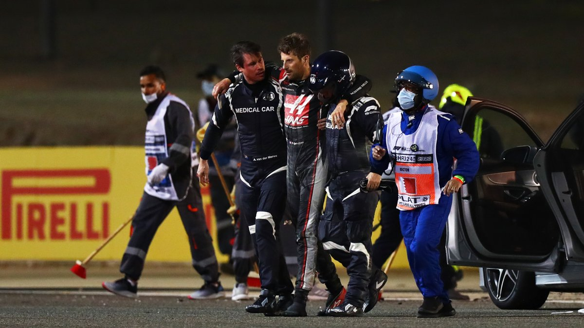 Thank you @fia for the safety standards on the F1 cars. And thanks god for that miracle. All the best @RGrosjean for a hopefully quick recovery!
