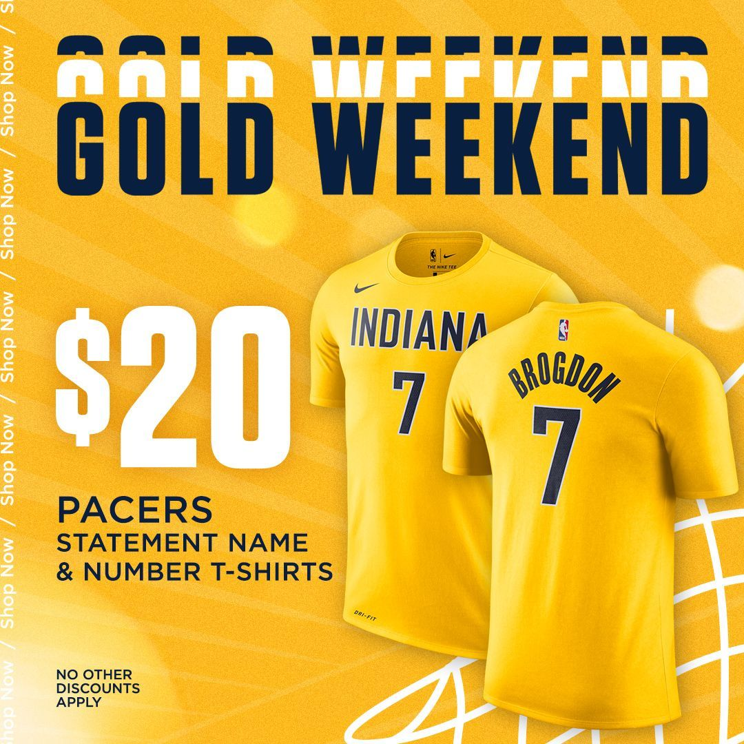 💛 Keeping this GOLD WEEKEND going with a new low price on our 19-20 Statement t-shirts! 💛  📲 https://t.co/IrQuhQ2luS https://t.co/WOkJwDKBMp