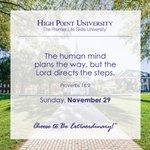 [CALENDAR] #DailyMotivation from Proverbs 16:9. #HPU365