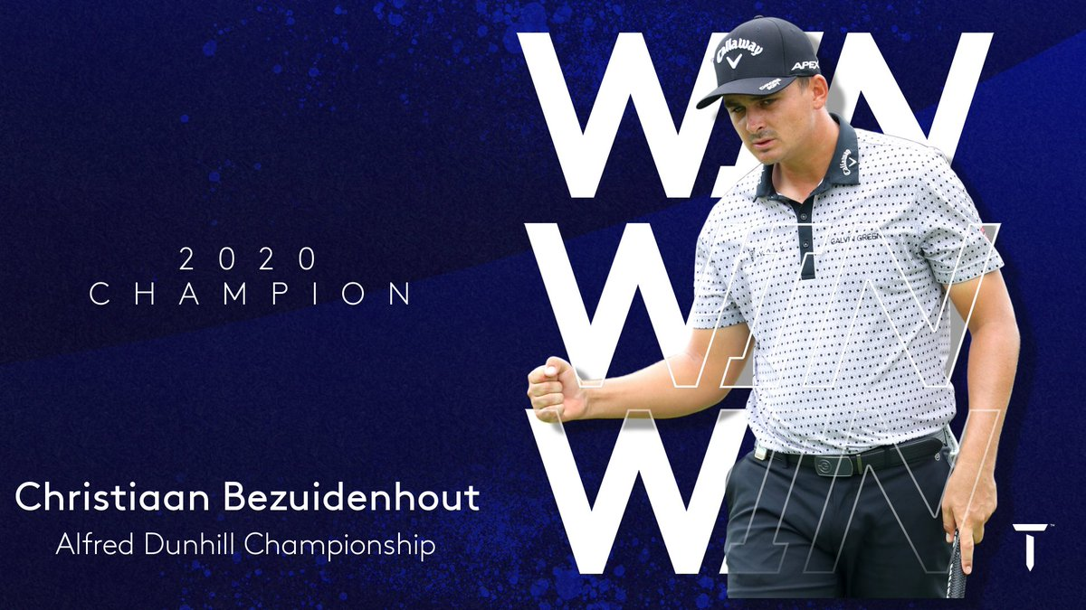 A champion on home soil!  @BezChristiaan wins the #DunhillChamps