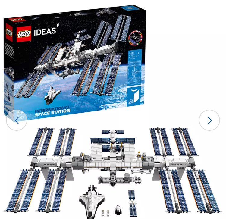 Good morning! How are you doing? I am starting to wonder if socialising was just a dream. I have however cheered myself up with a bit of a treat - the Lego ISS set! (Space fans - 20% off at Argos in Black Friday sale..!) #StayBright https://t.co/udW9alAMKn