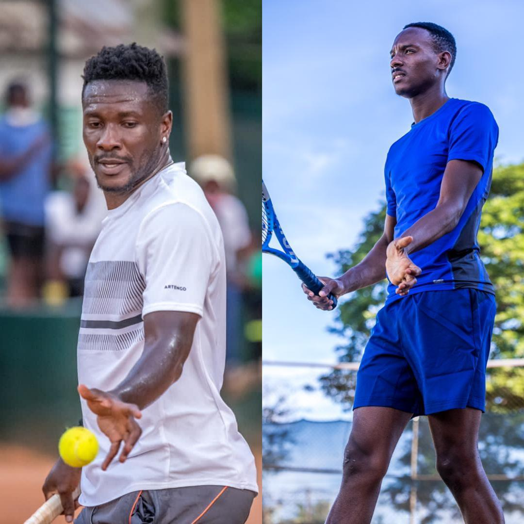 #joysports This afternoon on the clay courts of the Accra Lawn Tennis Club, @LegonCitiesFC forward and ex Ghana Captain @ASAMOAH_GYAN3 faces Felix Kabutey in the men's 35-44 years Category of the Accra Senior Open.