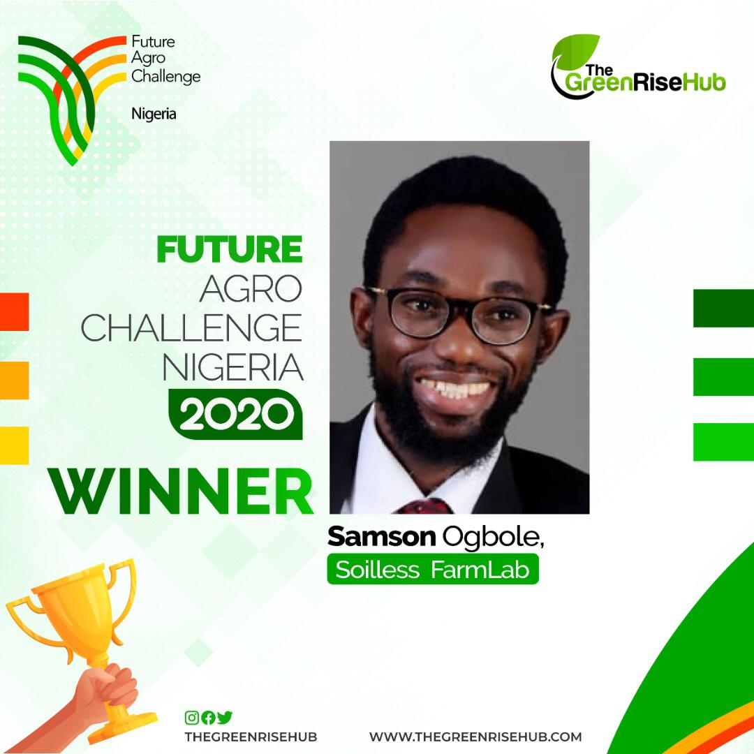 Congrats @Samsonprolific of @sFarmLab. Next step's the global @FAC_network stage! #foodsecurity #zerohunger #youthempowerment #agriculture