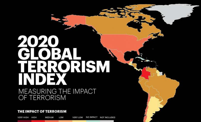 """معهد السلام والاقتصاد بأستراليا يصنف #السلطنة كأقل دولة في منطقة  #الشرق_الأوسط وشمال أفريقيا تعرضًا للهجمات الإرهابية وفقًا لمؤشر """" الإرهاب العالمي """" للعام الجاري 2020 م ."""