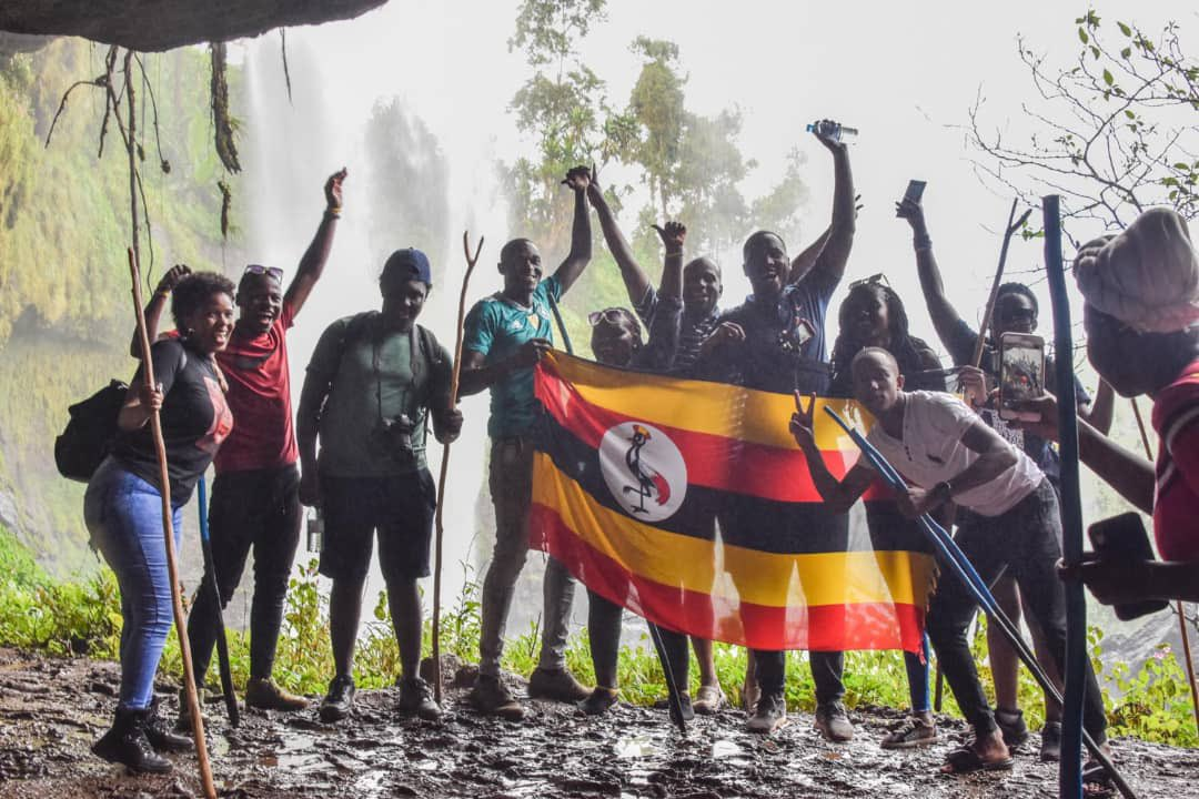 Hiking the famous Sipi Falls last year (Picture: Courtesy)