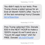 Image for the Tweet beginning: The Trump campaign sent these