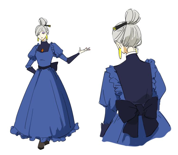 湯婆婆のドレスはデザインすごくかわいいとずっと思ってる!