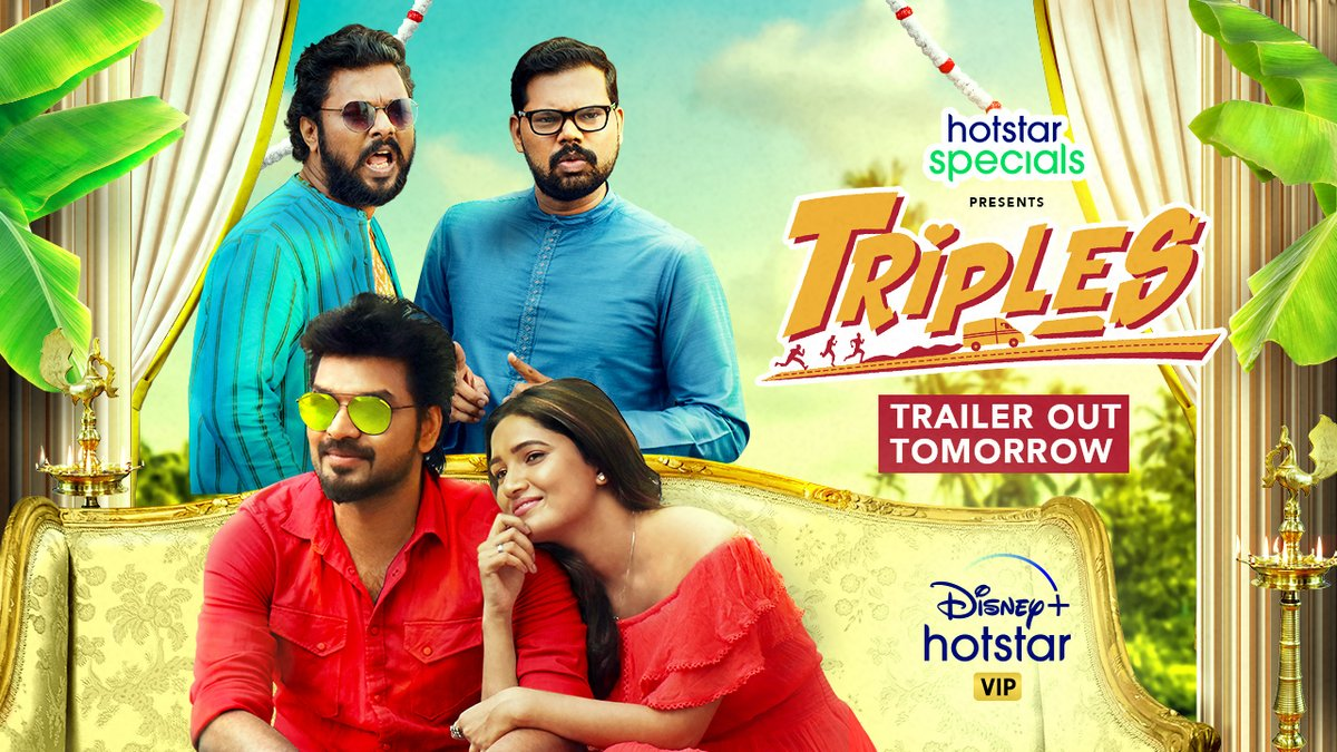 Three's a party and it's coming to you, get ready for #TriplesTheFun! #Triples trailer releasing tomorrow!