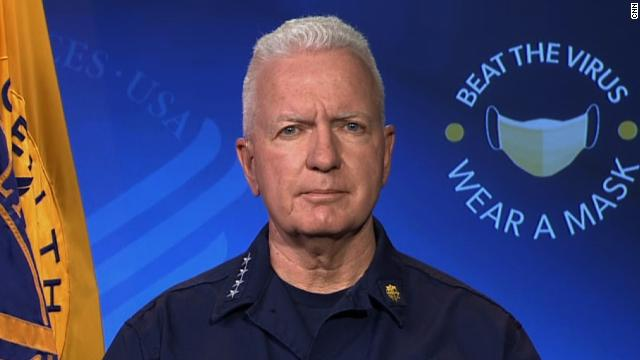 """White House coronavirus task force member Admiral Brett Giroir speaks to """"State of the Union"""" as the US records a new high in Covid-19 hospitalizations"""