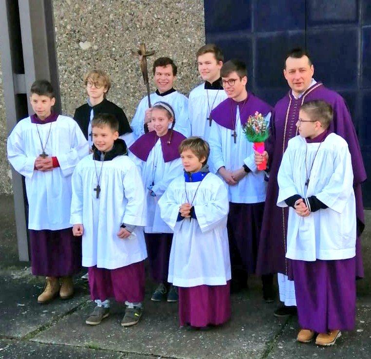 Meine #Verabschiedung in der #Kirche St. Josef der #Arbeiter in #Sachsen bei #Ansbach. #Heilige #Messe zum 1. #Advent.