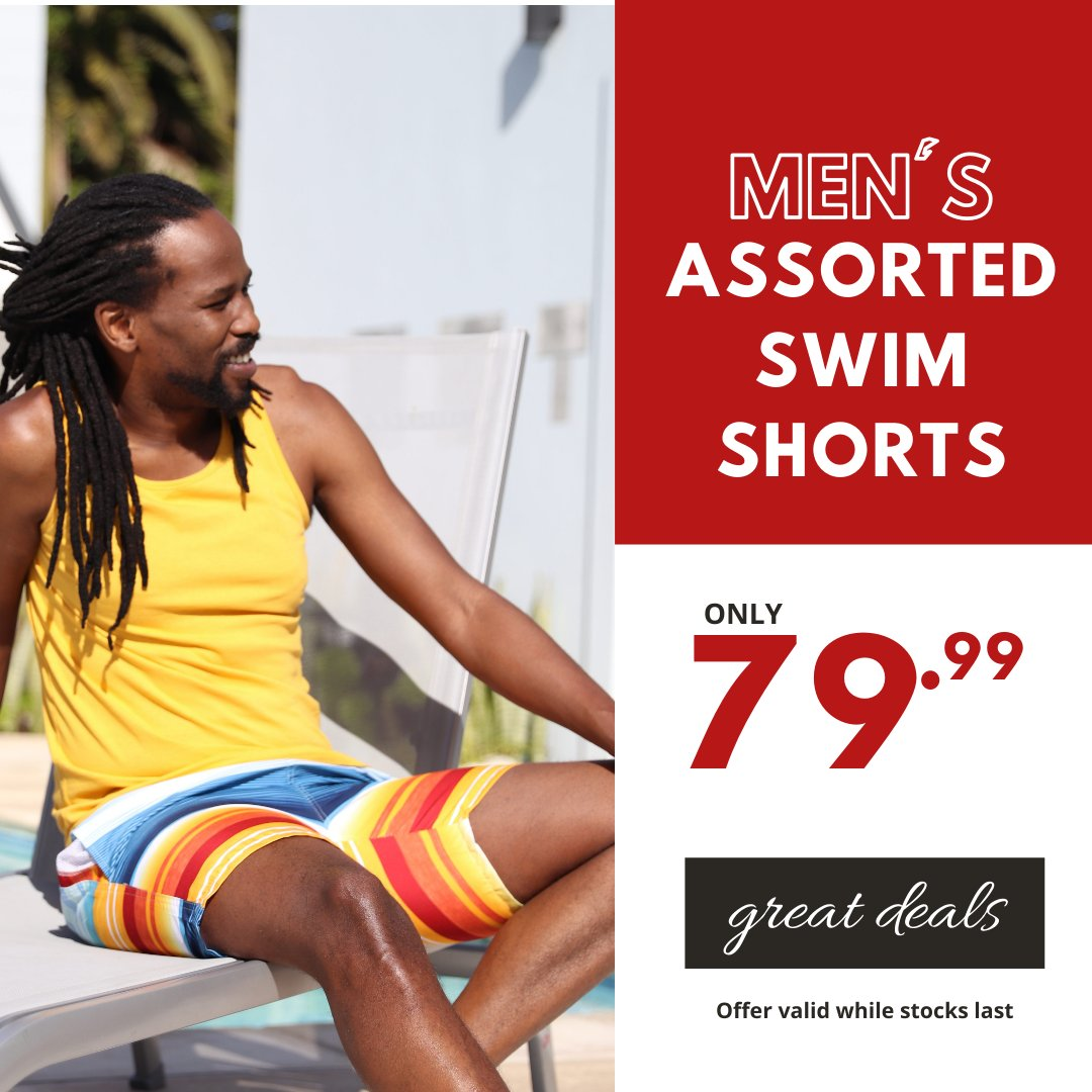 More summer deals... Men's Assorted Swim Shorts 79.99 #choiceclothing #wearchoice #mens #swimshorts