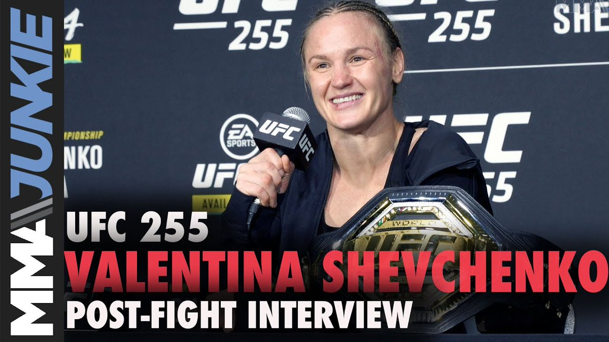 .@BulletValentina hopes to see sister @AntoninaPantera join her as a UFC champ, and there's a plan in place to make it work. 👭  #UFC255   Full interview: