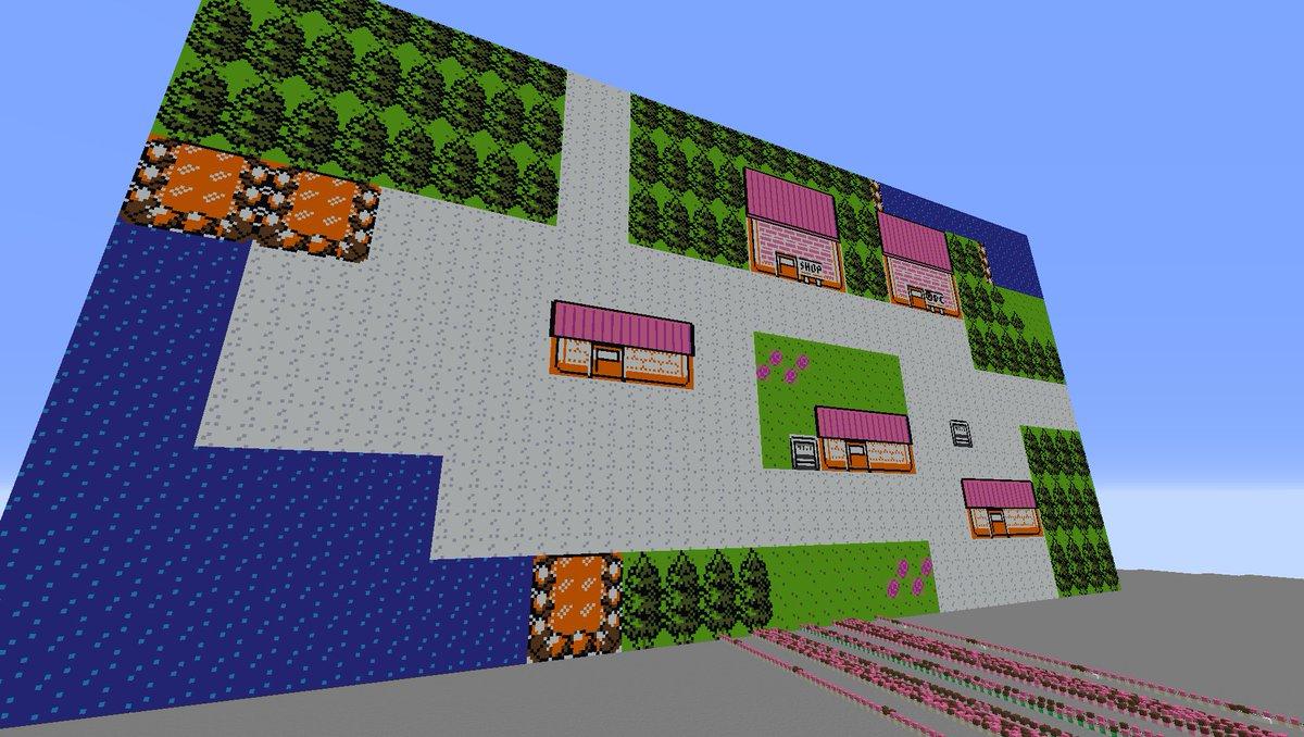 【Minecraft】音ブロックでヨシノシティを演奏してみた【ポケモン金銀】
