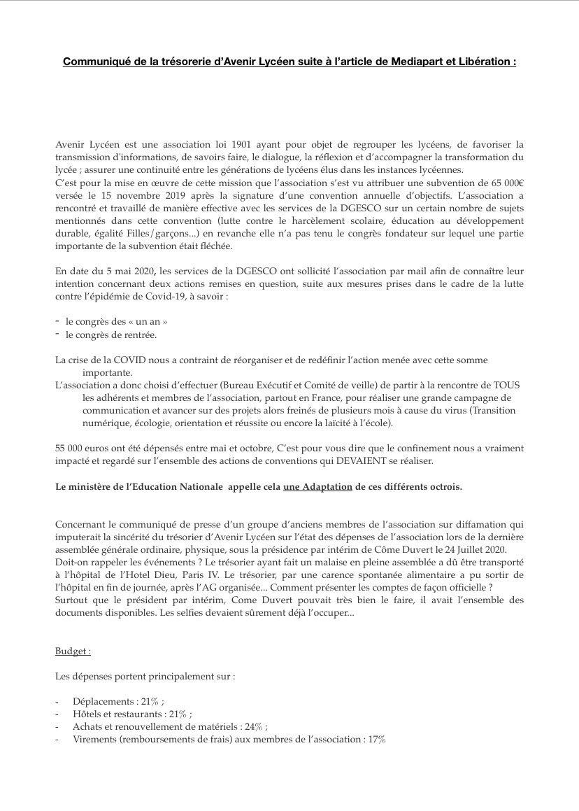 Avenir lycéen : un syndicat choyé par Blanquer (Médiapart) - Page 5 Ena7jg2XcAAYH7c?format=jpg&name=medium