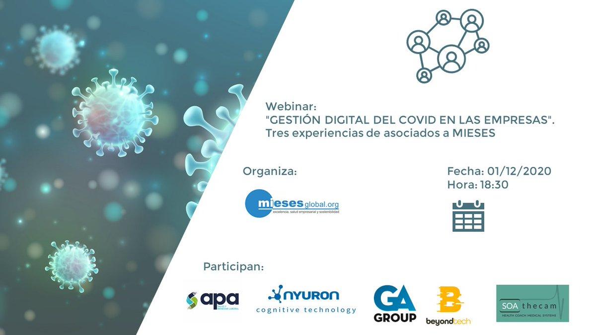 El Martes 1 de Diciembre estaré como socia de @BeyondTech_es en el #webinar sobre la gestión digital del covid en la empresa que organiza @MiesesGlobal Apúntate aquí: https://t.co/2Zd4lYsRRl #RRHH #Digitalización #Empresas #COVID19 https://t.co/DmJfMT448J