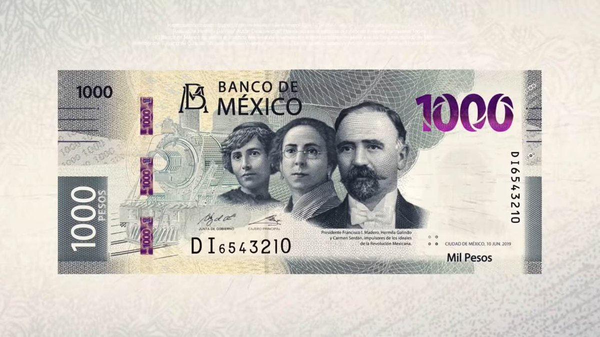 Nuevo billete de 1,000 pesos; hace honor a 2 mujeres, iconos revolucionarias Hermila Galindo y Carmen Serdán https://t.co/hSQV6aT2Sq https://t.co/PZ7ea2QXVt
