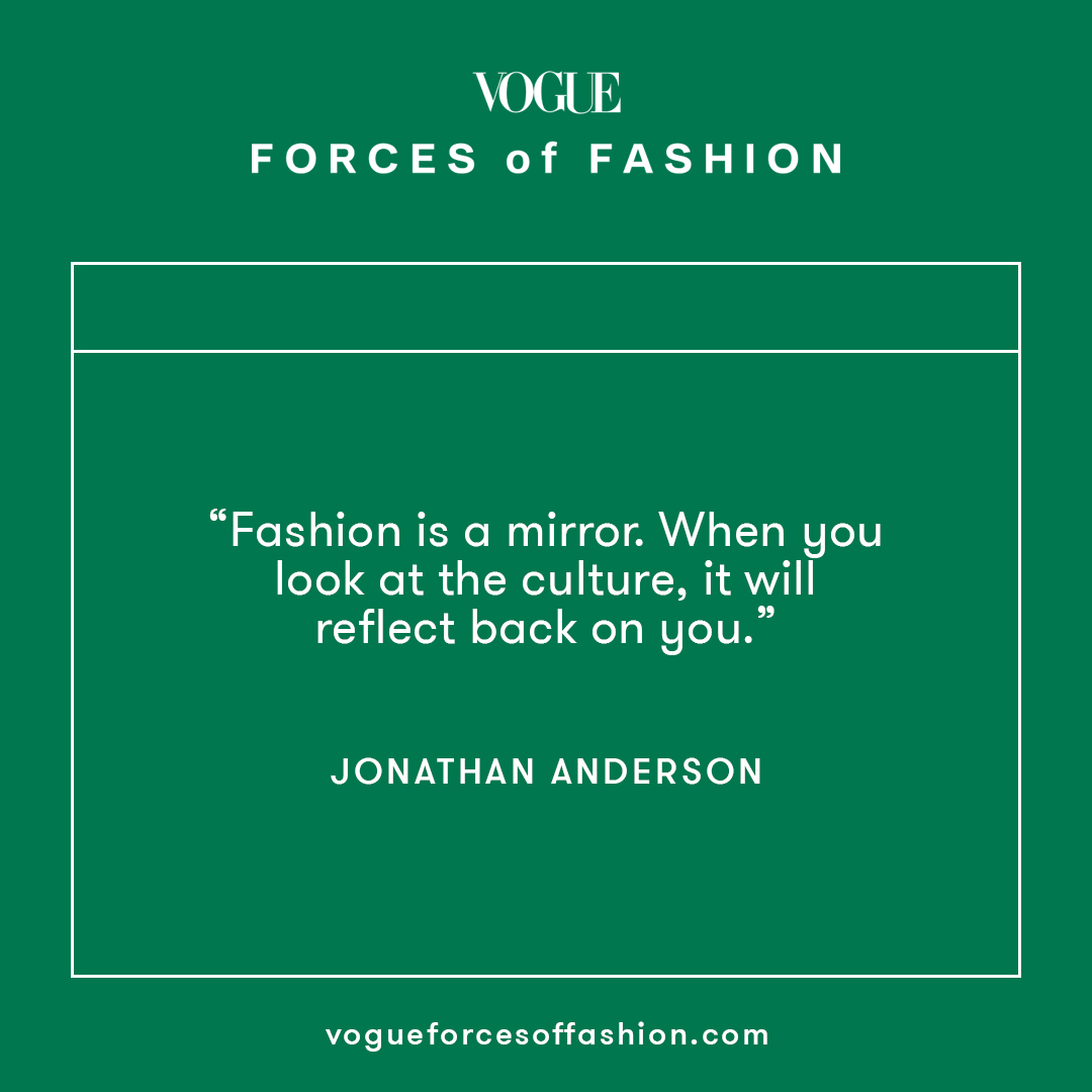 Jonathan Anderson, creative director of @LoeweOfficial and @JW_ANDERSON, reflects on the state of fashion today while in conversation with British actor and presenter @REGYATES for this year's #ForcesofFashion summit. Watch their full conversation: