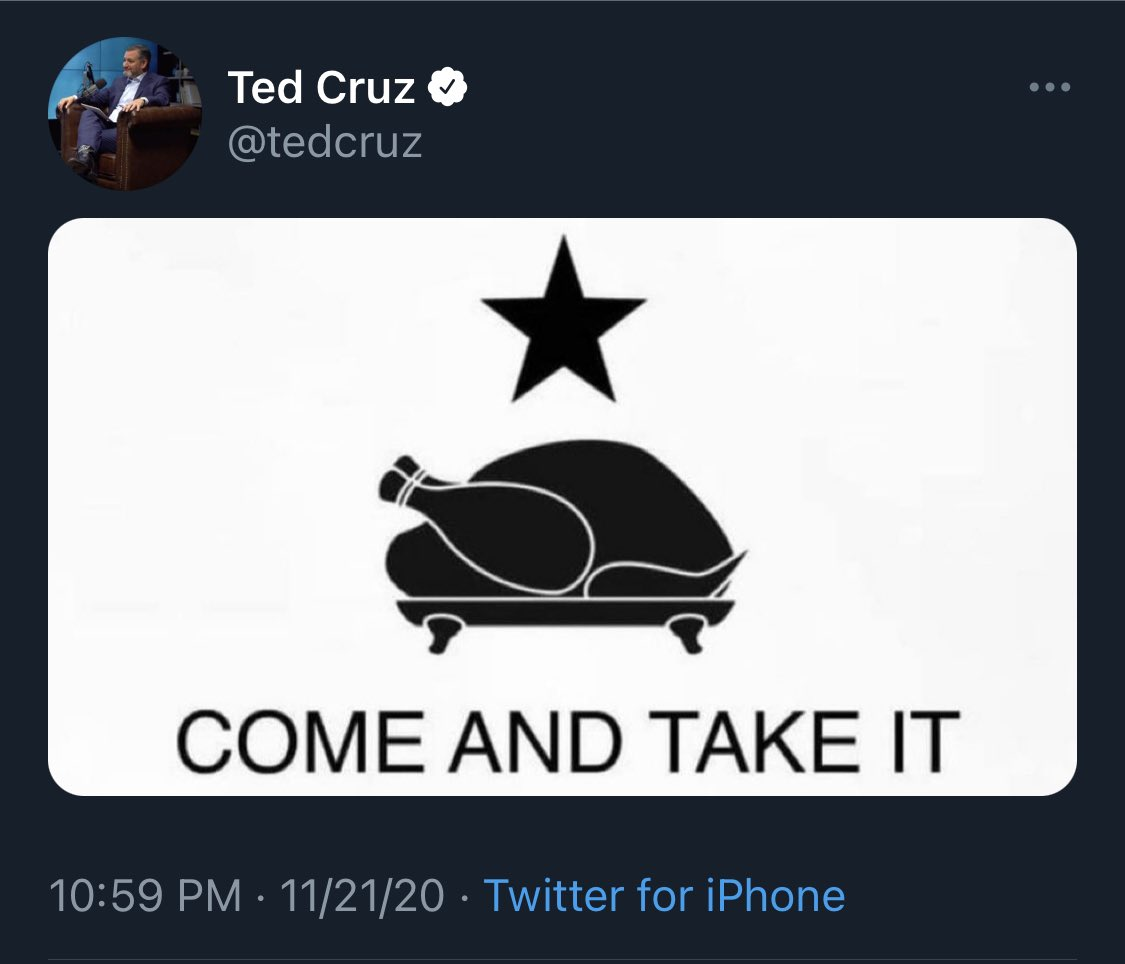 you can call ted's wife ugly and claim that his dad killed jfk but god help you if you take his turkey