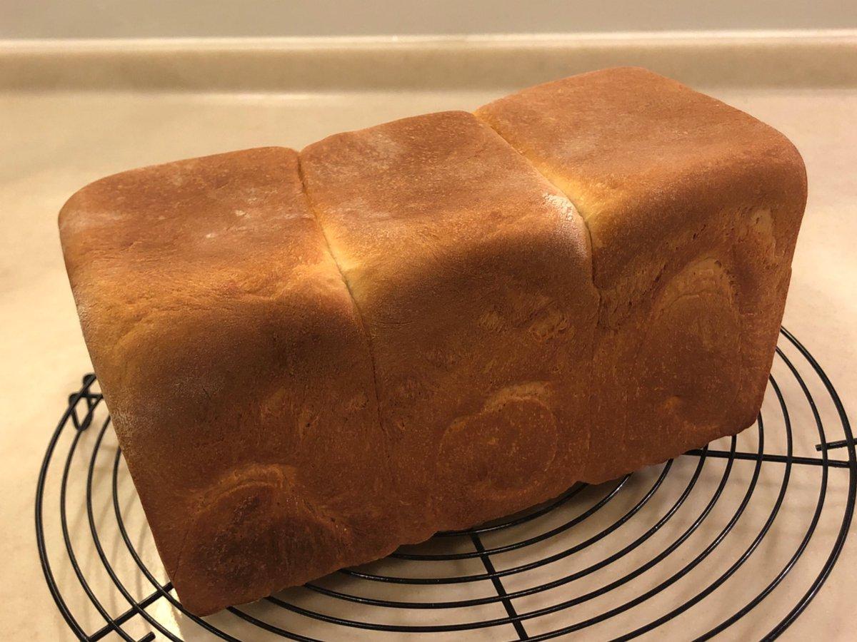 北海道産春よ恋で角食を焼きました完璧な仕上がり見て!#パン作り