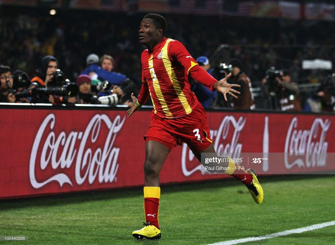 Happy birthday to Asamoah Gyan, the only player to have scored in nine consecutive major international tournaments.