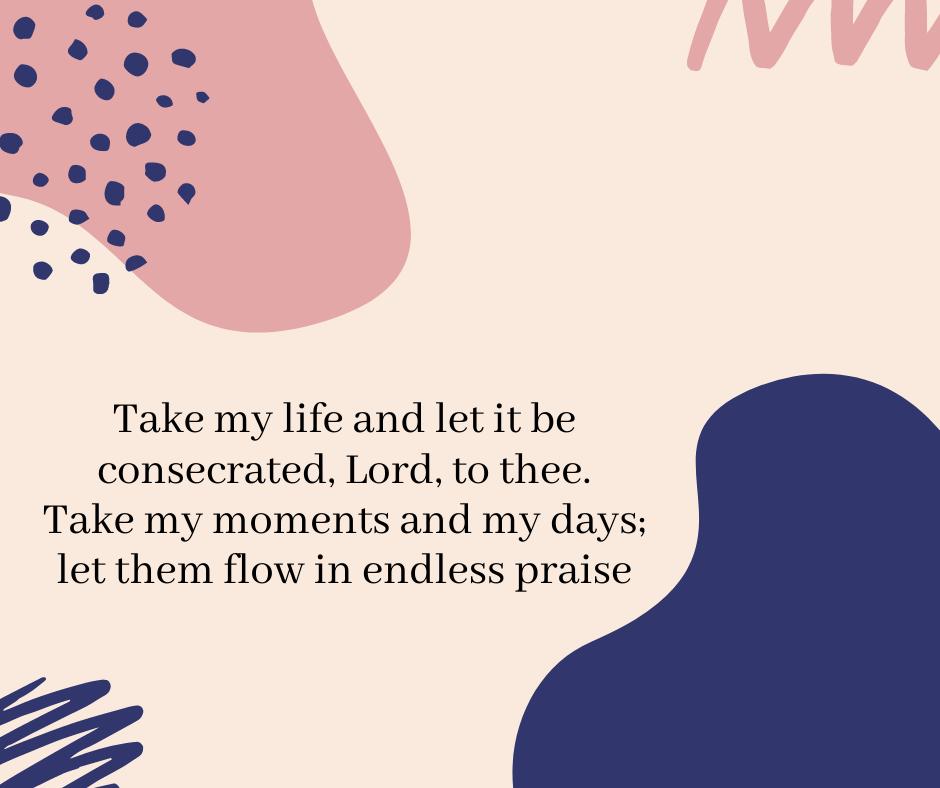 #SundayHymn words from Frances Ridley Havergal