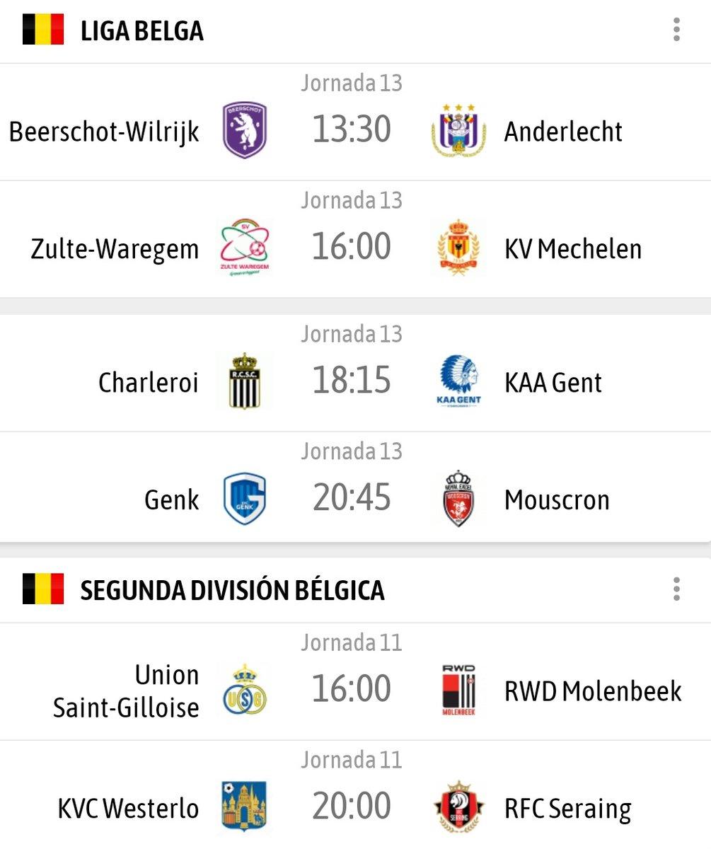 ¿Qué nos trae el día de hoy en cuanto a fútbol en Bélgica? Pues varias cosas muy interesantes como:  👉 El Beerschot (6°) vs Anderlecht (7°)  👉 El Charleroi vs KAA Gent  👉 El histórico