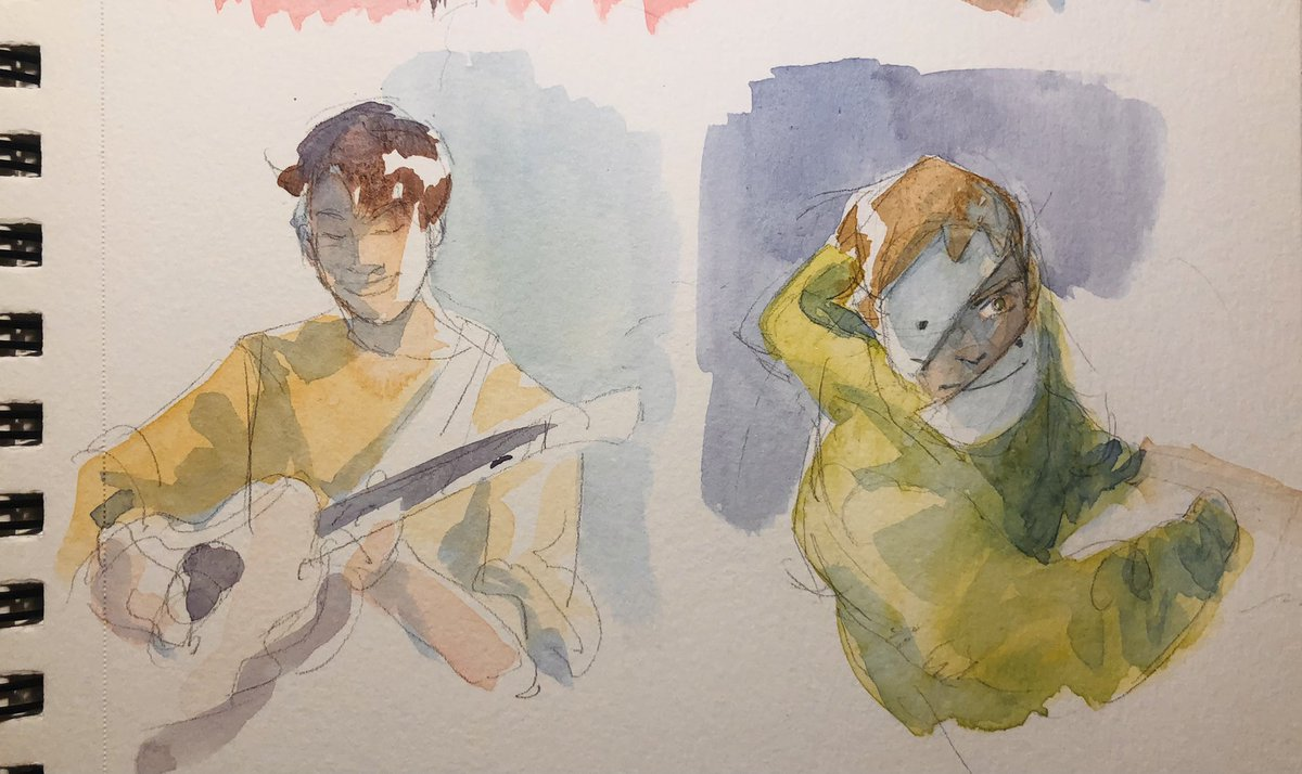 Finally got watercolor paper again (so much of my watercolor paper is still stuck at school ;;) Some requests from insta that I thought would be cool to save here ✨✨