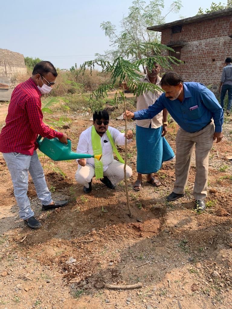 Today Accepted #Greenindiachallenge and Planted 300 Saplings 🌱 in my 2.5 Acre land Sy No:283/2 at Asifnagar village to control pollution and to make T G. Green.  Basheer Khan  Salahuddin were present. @MPsantoshtrs Garu Your dream to make India Green is Good for Humanity
