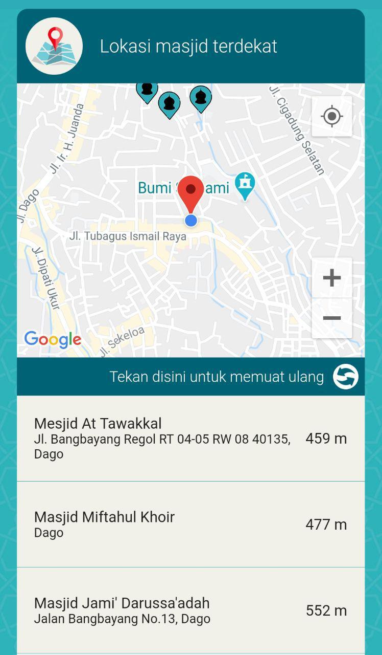 Fitur Lokasi Masjid Terdekat di Takwa.id (Gambar via Twitter @zakkafm)
