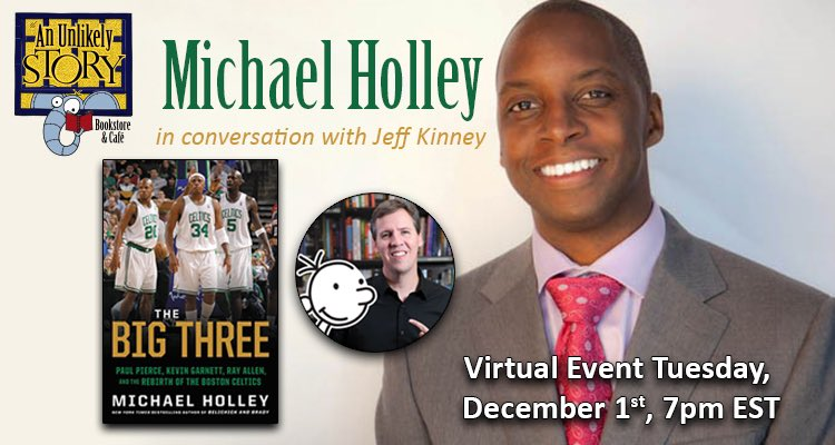 In a #virtualevent @MichaelSHolley, with @wimpykid, tells the inside story that lead the @celtics to their 1st championship in more than 20 years. Michael will inscribe copies of his new book purchased from us by 12/2. #Saveyourspot in the free event at