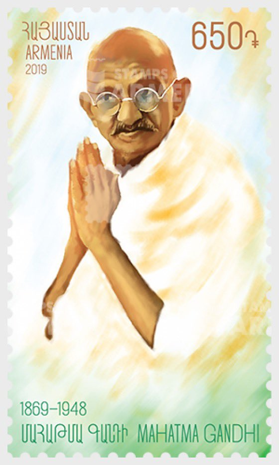 Armenia and Azerbaijan both issued commemorative postal stamps on Mahatma Gandhi in May and July 2019, respectively.  Gandhi's message of peace and harmony is ever so important; hope these small paper tokens can carry it all over.  #BetterPhila #Gandhi150 #GandhiEncore #Stamps19