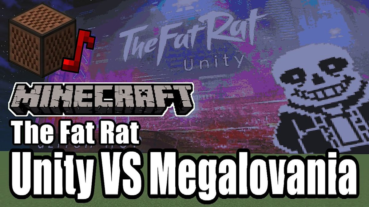 The Fat Ratさん本人のリミックス「Unity vs Megalovania」をマイクラで演奏してみました!だいぶ長い演奏になりました( ˘ω˘ )真似させる気がない演奏はこちら↓