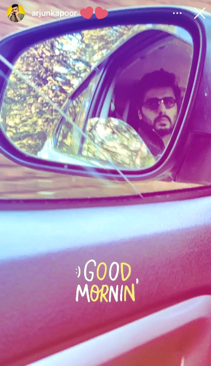 Woke up to this ☀️  Have a great day at shoot @arjunk26 💙 #workingsunday #TakeCare pls.. #BhootPolice