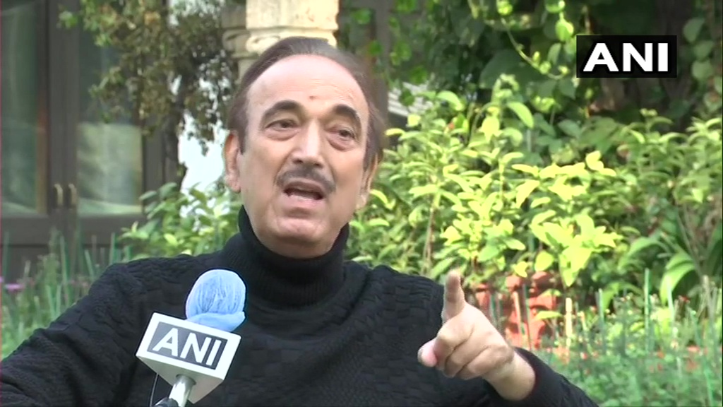 Office bearers should understand their responsibility. Till the time, office bearers are appointed, they won't go. But if all office bearers are elected, then they will understand their responsibility. Right now, anyone gets any post in the party: Congress Leader Ghulam Nabi Azad