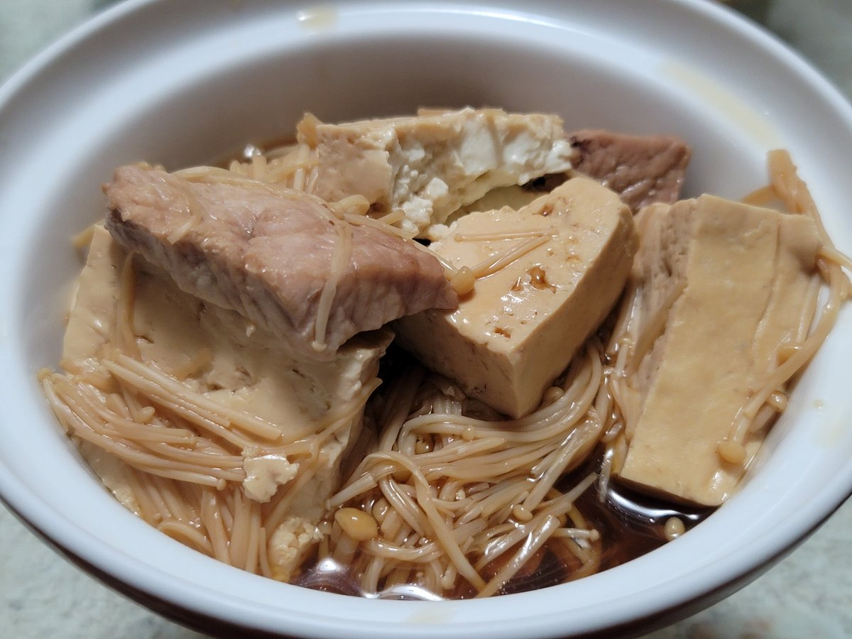 肉豆腐作ってみた〜このレシピを参考した。