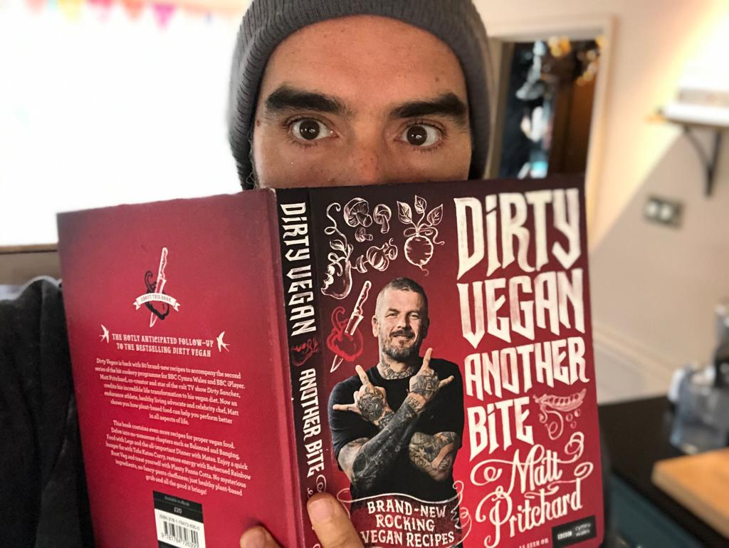 When I knew Pritchard @DirtyVeganTV at MTV in the noughties I didn't think I'd one day I'd be recommending his vegan cook book. Bong making technique, maybe. The fact is, it's great.