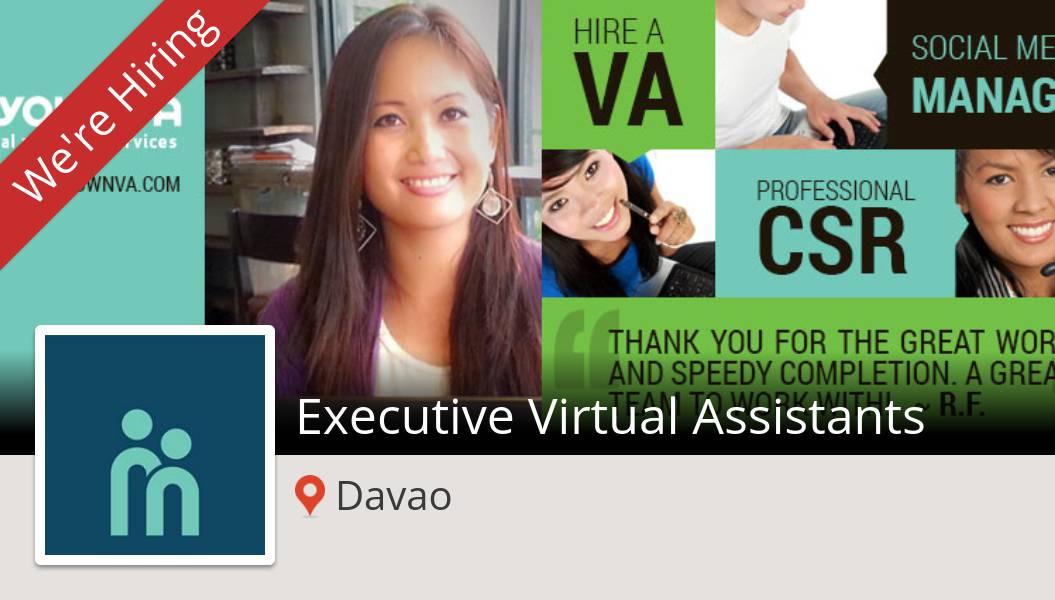 #MyOwnVA is looking for an #Executive Virtual #Assistants, apply now! (#Davao) #job https://t.co/vXGgRmiz73 https://t.co/LTWl1AVIxE
