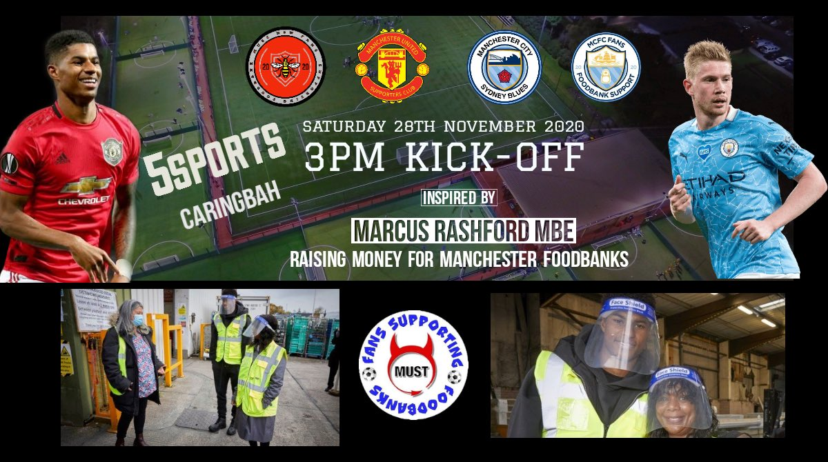 G'day @MarcusRashford 👋  Our supporters club in Sydney, Australia is playing a charity game this Saturday raising money for @mufcfoodbank against the Man City supporters club.   We're halfway to our target. Would love for you to see it ❤️ #mufc