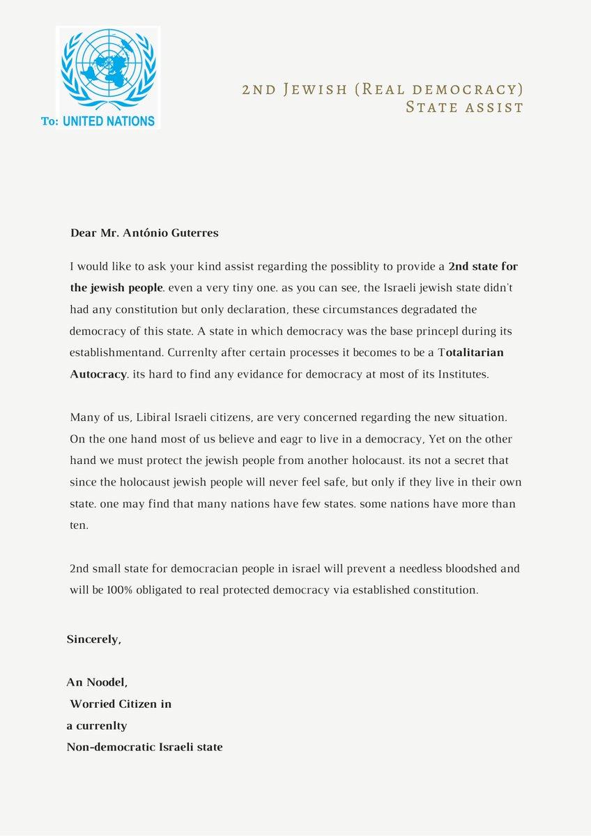 @UN @antonioguterres Please read this letter