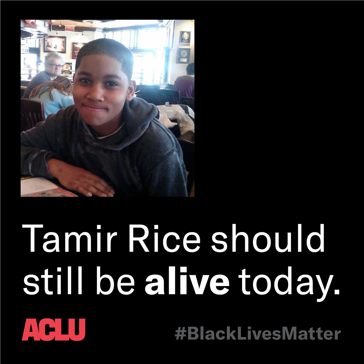 Six years ago today, 12-year-old Tamir Rice was killed by police.   Tamir should have turned 18 years old this year. #BlackLivesMatter
