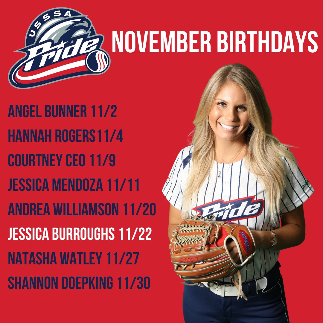 Happy Birthday, Jessica! 🎈 🎉 Send some love her way @jessicaburroug2 and check out our other November birthdays! #goPride