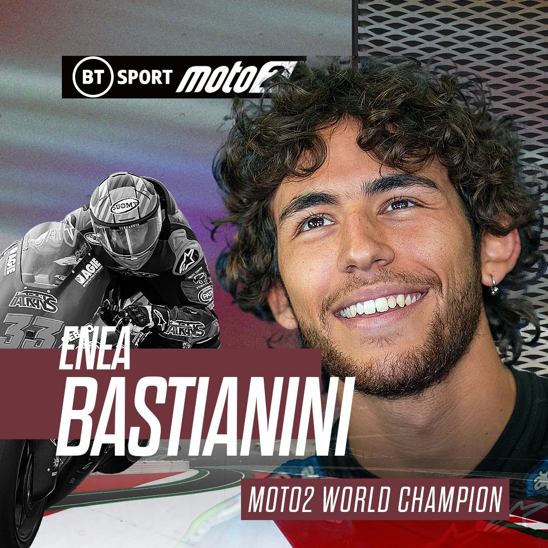 It was close, very close, but Enea Bastianini is crowned #Moto2 World Champion!   He held his nerve when it mattered most 🏆  #BeastMode   #PortugueseGP https://t.co/HtRGvzIOKf