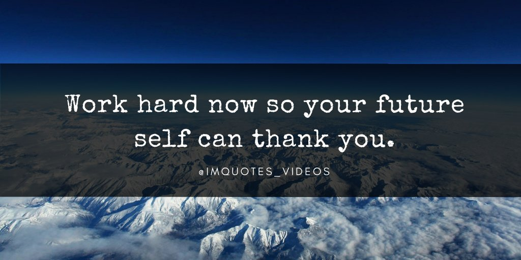 Replying to @IMQuotes_Videos: Your hard work today will lead to your future success and happiness.   #SundayMotivation